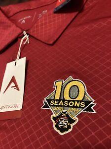 NWT Antigua MiLB Bradenton Marauders Polo Shirt MiLB Baseball Sz 4XL Big & Tall