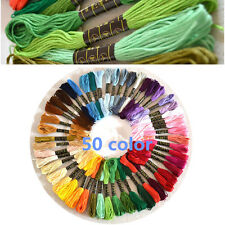 50 Anchor Cross Stitch Skeins Cotton Embroidery Thread Floss Assorted Color