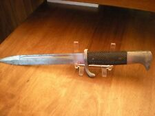 WWII F W Holler Etched Dress Bayonet For My Time in Service Markings