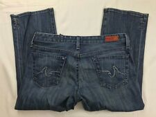 AG ADRIANO GOLDSCHMIED THE ATHENA STRAIGHT LEG JEANS 28 CROP
