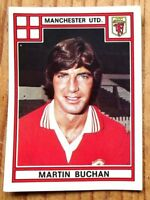 PANINI FOOTBALL 78 MANCHESTER UNITED MARTIN BUCHAN NO 233 VERY GOOD CONDITION