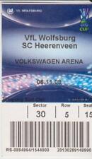 Sammler Used Ticket / Entrada VFL Wolfsburg v SC Heerenveen 6-11-2008 UEFA Cup