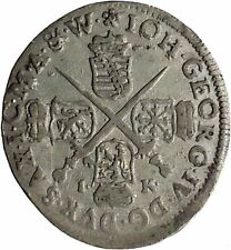 1693 Elector of Saxony JOHN GEORGE IV Silver 1/24 Taler German Coin i45274