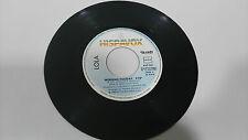 """LOLA WEEKEND VACANCES 1983 HISPAVOX SINGLE 7"""" VINYLE ESPAGNOL EDIT RARE"""