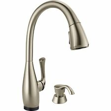 Delta Touch Activated Pull-Down Sprayer Kitchen Faucet Dominic w/ Soap Dispenser