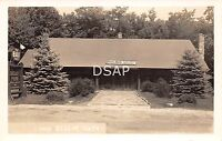 Pennsylvania Pa Postcard Real Photo RPPC c1940s PENFIELD Camp Elliot Park Cafe