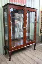 A Vintage Mahogany Mirror Back Crystal Display Cabinet