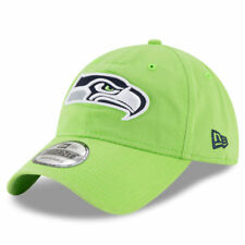 New Era Seattle Seahawks Neon Green Core Classic 9TWENTY Adjustable Hat - NFL