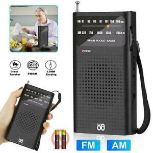 Slim Portable Pocket AM/FM World Receiver Silver mini Radio AM/FM P2C9 P6M7