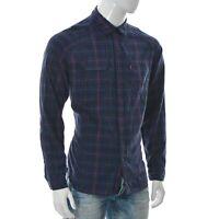 Levi's Uomo Two-Pocket Abbigliamento Casual Camicia Manica Lunga Twill Taglia L