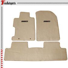 For 06-11 Honda Civic 2/4 Dr Beige Floor Mats Front & Rear Nylon Carpet 3PCs Set