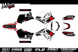Suzuki RM 125 250 2001 2002 2003 2004 2005 2006 2007 2008 Graphics kit Motocross