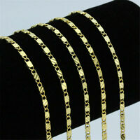 Gold Plated 18K Stainless Steel 2.5mm Gold Rope Chain Necklace Men Women Gift