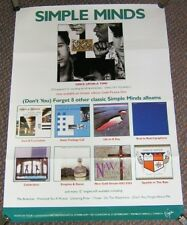 """SIMPLE MINDS RARE UK RECORD COMPANY 1985 """"ONCE IN A LIFETIME"""" PROMO/TOUR POSTER"""