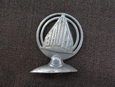 8057: Original vélo Emblème protection Tôle cavaliers Bauer vélo, pour 1950.