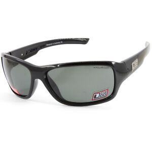 Dirty Dog Slab Polished Black/Green Polarised Men's Casual Sunglasses 53342