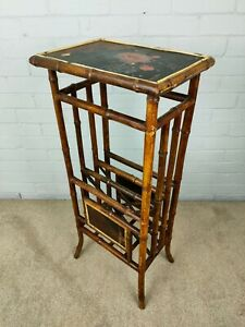 Victorian Bamboo and Lacquer Canterbury / Whatnot - Aesthetic Movement