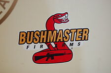 2 BUSHMASTER Firearms gun logo AR15 Bumber sticker decal cars trucks boats wall