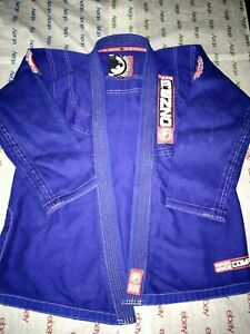 Team Renzo Gracie BJJ Brazilian Jiu Jitsu Gi Blue Embroidered Size A2