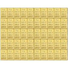 Part Gold Table CombiBar ™ any separate Separable - 50 x 1 GRAMS GOLD
