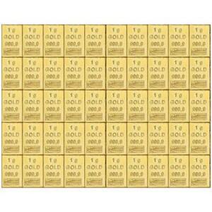 Valcambi Goldtafel Combibar™ - Beliebig voneinander trennbar - 50 x 1 Gramm Gold