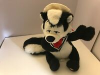 "Plush Hallmark Skunk Pepe 10"" music Box Singing soft Stuffed Animal WARNER Bros"
