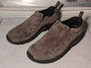 Merrell Jungle Moc Mens Size 13 Brown Gunsmoke Smooth Suede Upper Slip On Casual