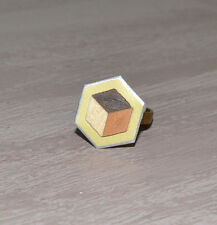 Hand made modernist Art Deco marquetry ring adjustable size NEW