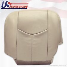 2003 2004 Chevy Tahoe Suburban Leather (Heated) Seat Cover Tan Driver Bottom