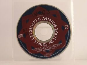 SIMPLE MINDS LET THERE BE LOVE (X12) 4 Track CD Single Plastic Sleeve VIRGIN