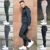 BBH Mens Polyester Bottoms Slim Fit Gym Joggers Skinny Elasticated Jogging Pants