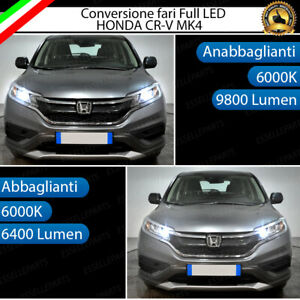 CONVERSIONE FANALI FULL LED HONDA CRV CR-V MK4 ANABBAGLIANTI ABBAGLIANTI 6000K
