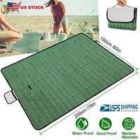 "Picnic Camping BBQ Mat Waterproof Beach Blanket Mat For Outdoor Hiking 60"" x 78"""