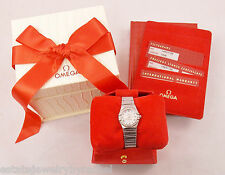 Ladies Omega Constellation Stainless Steel MOP Diamond Bezel Watch 1465 w/Box