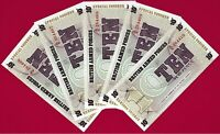 5 UNC Military Special Vouchers: 10 Pence 1972 - 6th Series P-M48  Great Britain