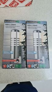 2 * Livarno Lux Outdoor Wall Light Stainless Steel Integrated Motion Sensor IP44