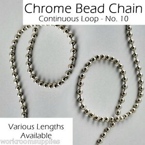 Roman Roller Vertical Blind Metal Silver Chrome Bead Chain Continuous Endless