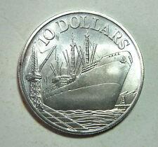 $10 Singapore 10th Anniv 1975 silver coin # 163