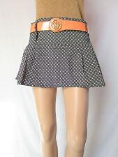 Womens French vtg Retro Fashion Casual Black White Blogger Mini Skirt sz M AQ8