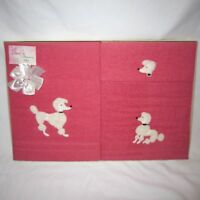 NOS Vintage Cannon Pink POODLE Terrycloth Towel Gift Set Bath/Hand/Wash Towels