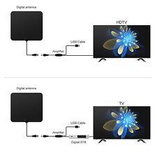 Ultra Thin Innen HD TV Digital Antenne Verstärke HDTV Fox Fernsehsignal 50 Miles