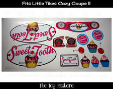 Replacement Decals fits Little Tikes Cozy Coupe II Cupcake Cake Bakery Truck