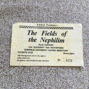Fields of the Nephilim ticket  Sheffield University 16/11/87 #0173