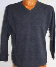 4371 Herren Pullover Herren Strick- Pullover Pulli V-Ausschnitt anthrazit Gr.XXL