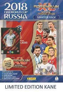 2018 PANINI ADRENALYN FIFA WORLD CUP STARTER PACK ALBUM 18 CARDS + HARRY KANE