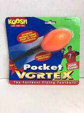 Koosh Pocket Vortex OddzOn Spiral Flying Football John Elway Small Orange/Blue