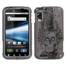 For AT&T Motorola Atrix 4G MB860 Hard Case Snap on Phone Cover Vintage Skull