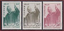 1957 MAROC N°374/376** Mohamed V. 1957 MOROCCO Set MNH
