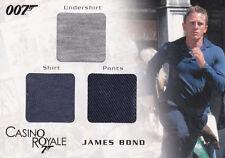 JAMES BOND IN MOTION BOND'S UNDERSHIRT SHIRT & PANTS TRIPLE COSTUME CARD TC03