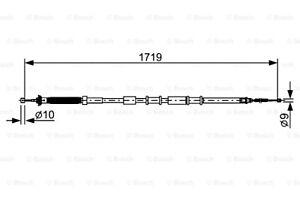 BOSCH Parking Brake Cable Fits FIAT 500L Hatchback 2012- 1987482526